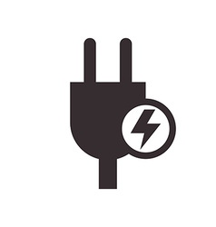 Plug and high voltage sign vector