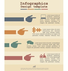 Infographic template with hands and text vector