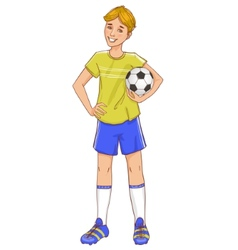 Boy with a football vector