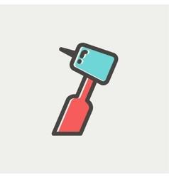 Dental drill thin line icon vector image