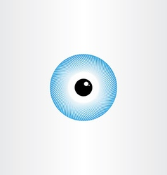 Human eye blue pupil symbol vector