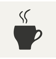 Flat in black and white mobile application cofee vector