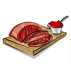 Beef on board vector