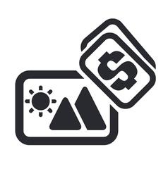 sale photo icon vector image