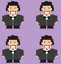 Pixelated groom pattern vector