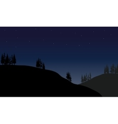 Scenery hills at the night vector