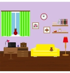 Modern stylish interior room vector