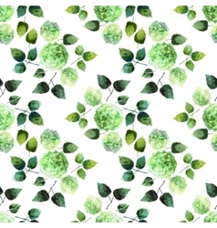 Watercolor hydrangea pattern vector