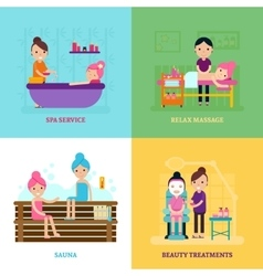 Beauty salon people concept vector