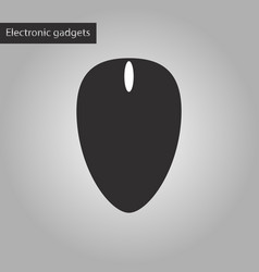 Black and white style icon computer mouse vector