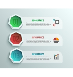 Business infographics banner origami style vector image vector image