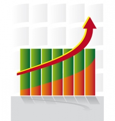 chart development with an arrow vector image vector image