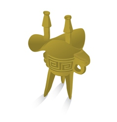 Chinese ancient grail vector