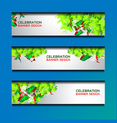 christmas and new year banners template vector image