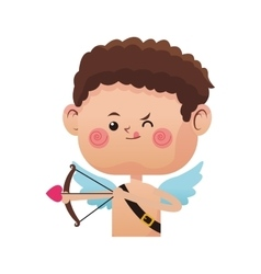 Cupid cartoon icon vector