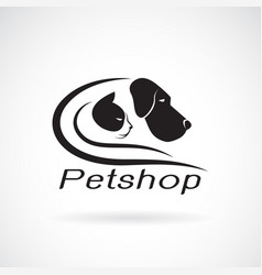 dog and cat design on white background petshop vector image