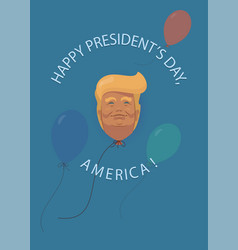 donald trump flat cartoon presidents day in usa vector image