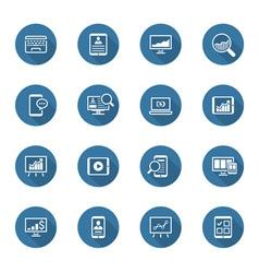 Flat design icon set vector