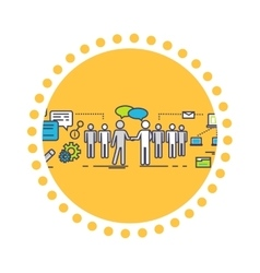 Flat Icon Concept of Business Partnership vector image