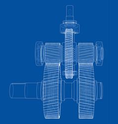 gearbox sketch vector image vector image