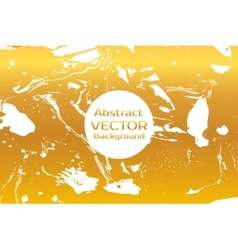 Gold abstract painted marble vector image