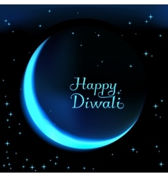 Happy diwali the celebration of hindu community vector