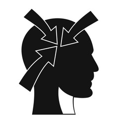 head with arrows icon simple style vector image