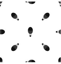 Hot air balloon pattern seamless black vector