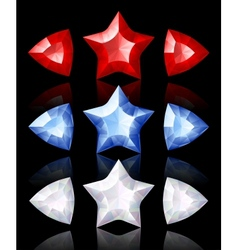 jewelry icons of stars and arrows vector image vector image