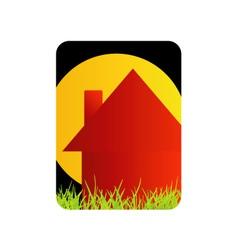 Logo for home renovation or real estate business vector image