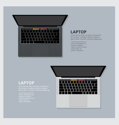 modern laptop isolated vector image