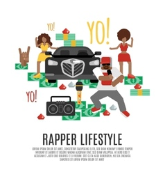 Rap Music Concept vector image