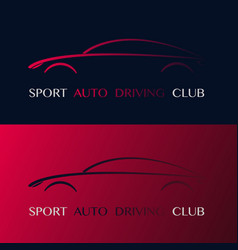 Sport auto driving club design logo vector