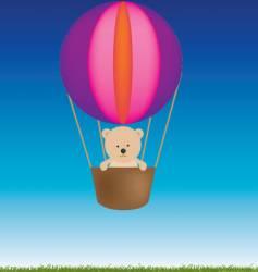 teddy balloon vector image