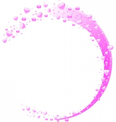 valentine heart bubble wave vector image vector image