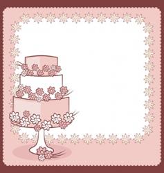 wedding card vector image