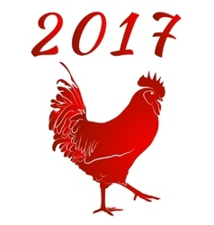 Red cock symbol of chinese new year vector