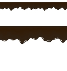 Oil Drips Black Liquid Crude Seamless Border vector image