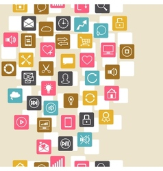 Social network background of seo internet icons vector