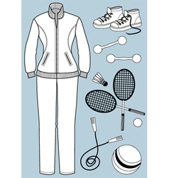 Womam clothes and equipment vector image
