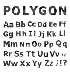 Alphabet Polygonal font set vector image