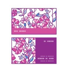 Vibrant field flowers horizontal stripe frame vector