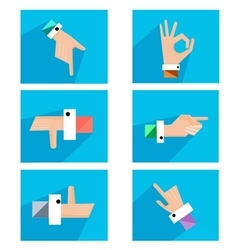 Hands showing symbolic icons vector