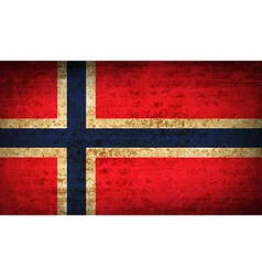 Flags norway with dirty paper texture vector
