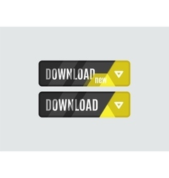 Download button futuristic hi-tech ui design vector