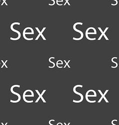 Safe love sign icon safe sex symbol seamless vector