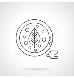 Tomato sauce flat thin line icon vector