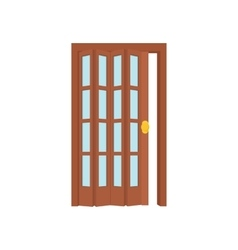 Opened door icon cartoon style vector