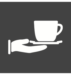 Serve tea vector