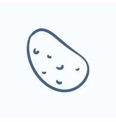 Potato sketch icon vector